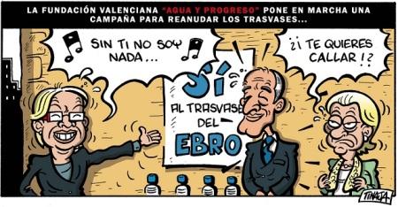 """La fundación valenciana """"Agua y Progreso"""" pone en marcha una campaña para reanudar los trasvases..."""