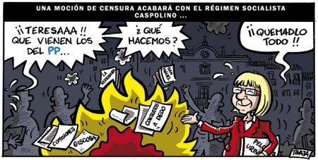 Una moción de censura acabará con el régimen socialista caspolino