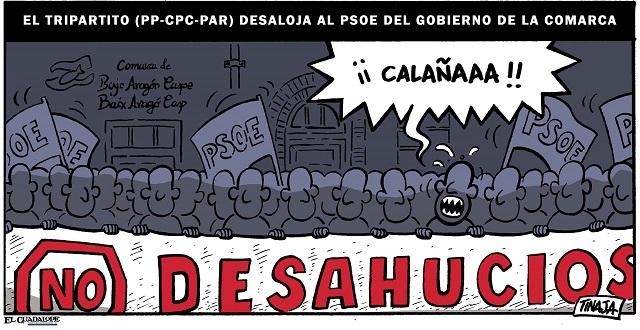 El tripartito (PP-CPC-PAR) desaloja al PSOE del gobierno de la Comarca