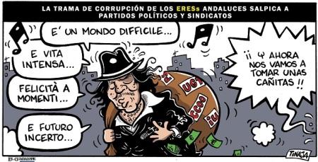 La trama de corrupción de los EREs andaluces salpica a los partidos políticos y sindicatos