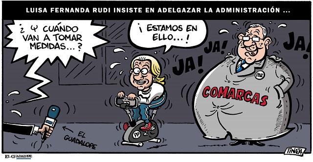 Luisa Fernanda Rudi insiste en adelgazar la administración...