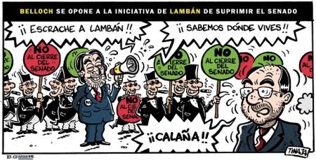 Belloch se opone a la iniciativa de Lambán de suprimir el Senado