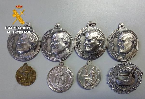 Medallas de plata recuperadas