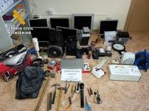 Objetos robados recuperados por la G.C. de Caspe